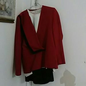 Other - Vintage Red, Black, And White Work Suite